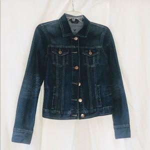 Denim jacket with light distressed design